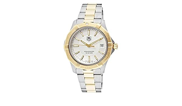 Amazon.com: Mens Aquaracer Silver Dial Stainless Steel & 18k Gold Plated Stainless Steel: Watches