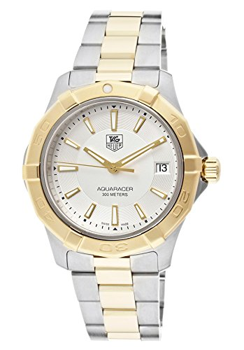 Mens Aquaracer Silver Dial Stainless Steel & 18k Gold Plated Stainless Steel. TAG Heuer