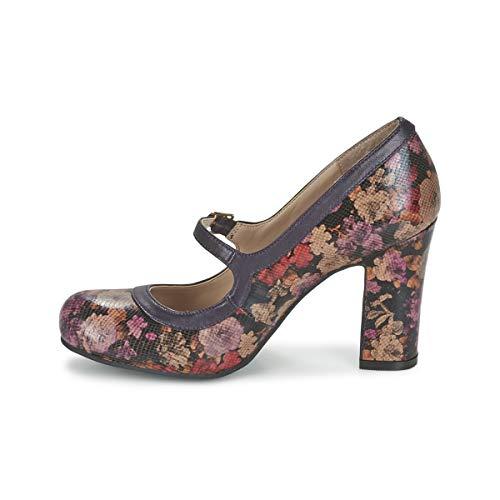 Mujeres Violeta De Jasmyn Lotus Tacón Multicolor Zapatos IqwC81R