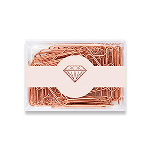 MultiBey Rose Gold Paper Clips Non-skid Smooth Finish Steel Wire Large Size 70pcs/50mm (50mm)