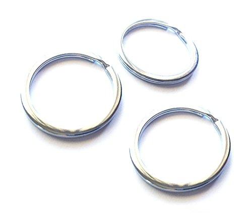 Mehr 3X Key Chain Rings - Chrome Keychain Rings - Durable Key Rings