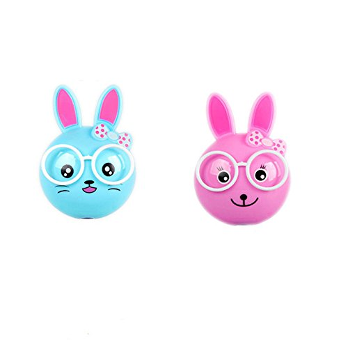 Cheap 2 PCS Rabbit LED Plug in Night Light for Kids- Wall Lamp Take Good Care Children Sleep Light Sensor Auto Controlled Nightlights for Baby Nursing (Blue+Pink-2)