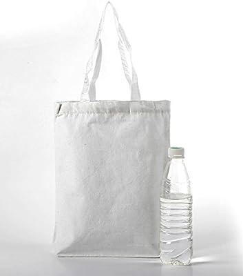 a4ca5654f2 Fun Central (BA048, 12 Packs, White Cotton Craft Tote Bag, Canvas ...