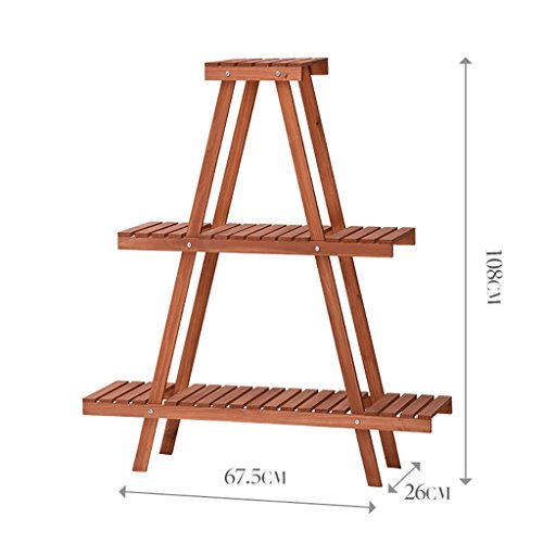 JHZWHJ Wooden Flower Rack Indoor Plant Stand Wooden Plant Flower Display Stand Wood Pot Shelf Storage Rack Outdoor (Size : B) For Sale
