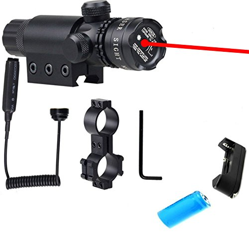 Red Dot Sight, Hunting Rifle Dot Scope Sight with Picatinny w/ Rail & Barrel Mount Cap Pressure Switch Battery Charger Included Dot Sight - Ar15 Barrel Cover