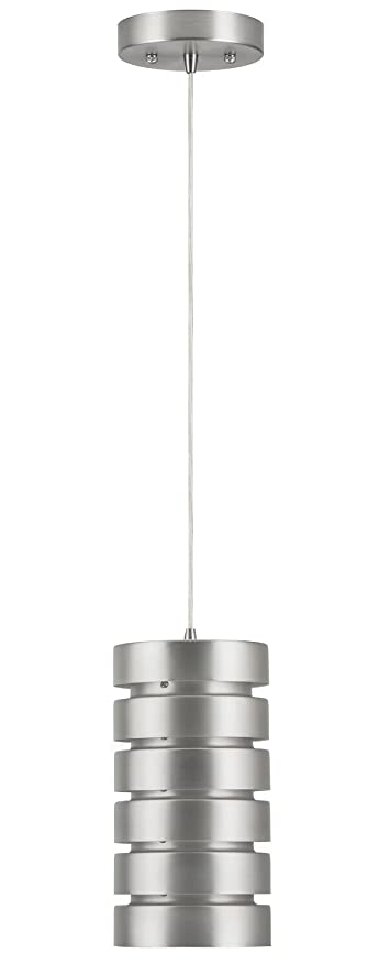 macchione onelight industrial pendant lamp brushed nickel steel linea di liara ll