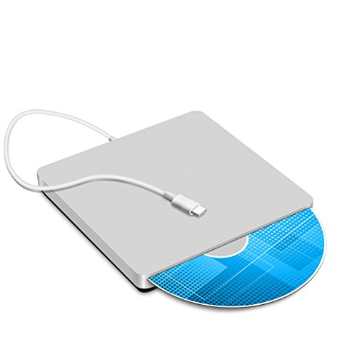 Usb C Superdrive External Slot In Dvd Cd Rewriter Usb External Dvd Cd Drive Burner For Latest Mac Pro Macbook Pro Asus U306ua Asus Dell Latitude With Usb C Port  Silver