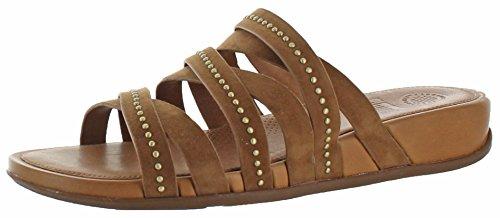 Fitflops Femmes Lumy Sandales En Cuir Diapositive Chaussures Tan