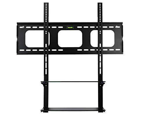 Mount-it! Low Profile Flat Panel TV Mount and Glass Entertainment Center Combo Combo Flat Panel Tvs