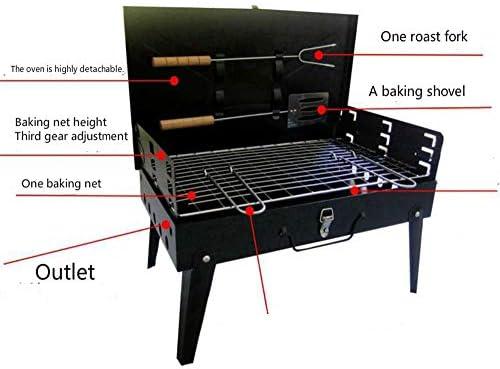 WQY Portable Pliable Barbecue Grill en Plein Air Boîte Barbecue Barbecue Grill pour Extérieur Barbecue Fumée Grill pour Camping, Voyage, Jardin, Extérieur