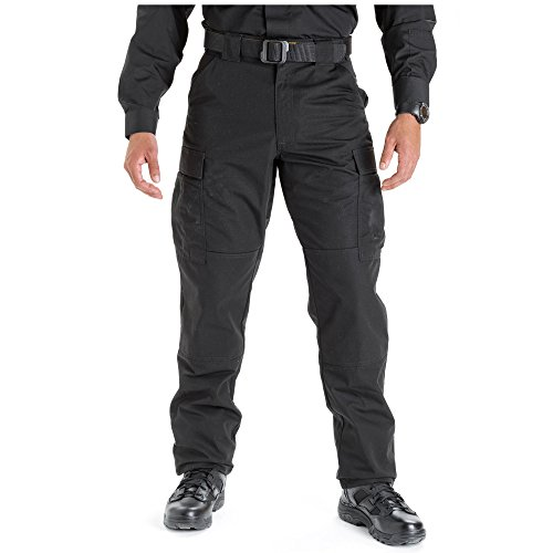 5.11 Tactical Men's Ripstop TDU Pants, Black, Large/Regular