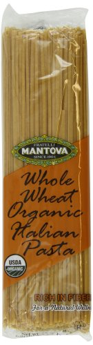 Mantova Italian Organic Whole Wheat Pasta, 1-Pound Bags (Pack of 10)
