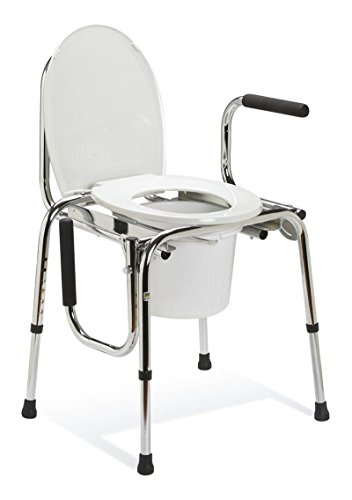 Medline Drop Arm Commode, (Standard Drop Arm Commode)