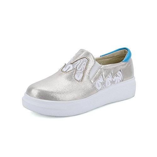 Sequin Platform Toe Glitter Shoes Ladies Gold BalaMasa Walking Round qBgwxnpZ