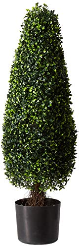 Nearly Natural 5412 Boxwood Tower Topiary UV Resistant Tree, 3-Feet, Green (What A Tree Is Topiary)