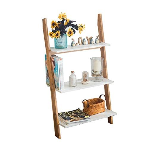 (3-Tier Bamboo Standing Shelf Bathroom Wood Organization Storage Rack Standing Shelving Unit Living Room Trapezoidal Bookcase Cube Kitchen Cabinet Bookshelf Display Shelves Flower Rack)