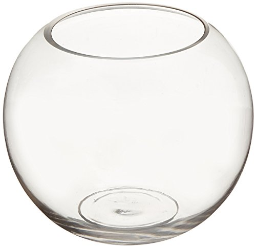 WGV Clear Bubble Bowl Glass Vase, 8-Inch