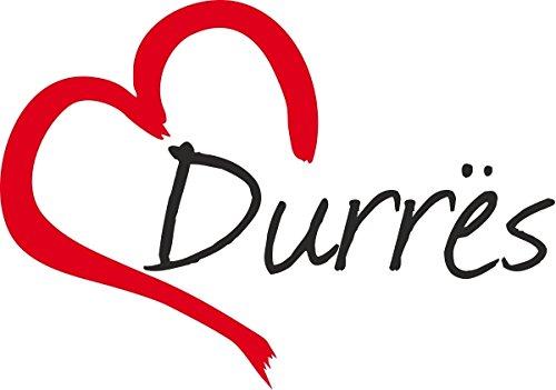 Sticker ca.9x13cm taglio contorno Adesivo per auto  DURRES  Durazzo Citt/à dAlbania
