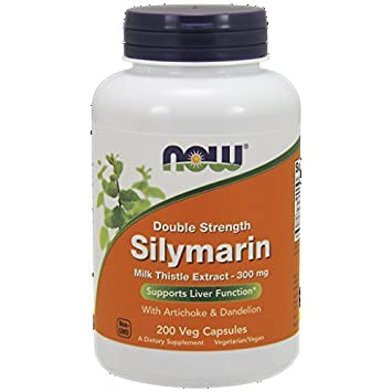 NOW MILK THISTLE EXTRACT 300 MG – 80 SILYMARIN with support herbs – Vegetarian Capsules 395