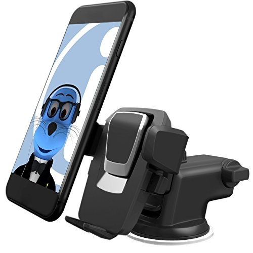Price comparison product image Heavy Duty Auto Grip (Case Compatible) 360 Degrees Rotating Multi Angle Windshield Dashboard Car Mount Holder for Xiaomi Mi A1 (5X) 2017