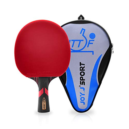 Joy.J Professional Table Tennis Paddle with Case, ITTF Approved Ping Pong Racket, Perfect for Intermediate