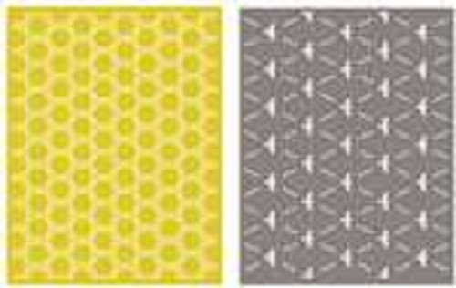 QUICKUTZ Lifestyle Crafts Lifestyle Crafts A2 Honeycomb Embossing Folder Set