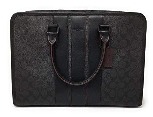 COACH BOND BRIEF SIGNATURE IN SMOOTH LEATHER F23212 BLACK/OXBLOOD ()