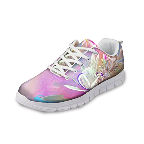 floral CHAQLIN Casual Womens Pattern Sneaker Running 9 Flower Shoes 3D P1qwCO