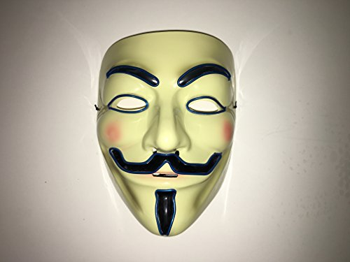 Do It Yourself Costumes For Guys (V Guy Fawkes Halloween Led Mask Flames Skull Mask Light Up Mask Flashing Carnival Masks for Show Halloween Festival Parties)