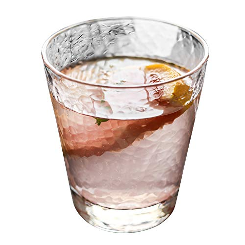 WarmCrystal, Non-leaded Crystal Modern Fashioned Whiskey Glass, Vodka Glass, Beer Glass, Teacup, Cocktail Glass and Bar Glassware (8.9 oz)