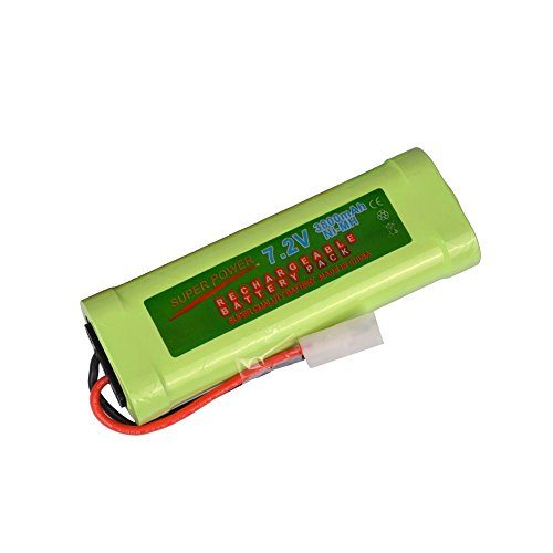 Simply Silver - Rechargeable Battery - 1 pcs 7.2V 3800mAh Ni-Mh rechargeable battery pack RC w/ Tamiya Plug USA by Simply Silver