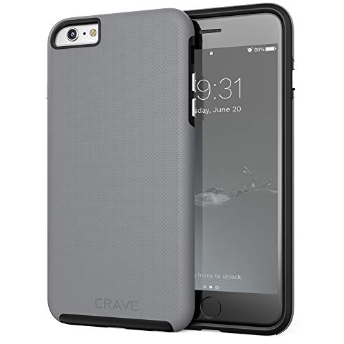 iPhone 6S Plus Case, Crave Dual Guard Protection Series Case for iPhone 6 6s (5.5 Inch) - Slate
