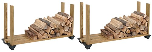 - Hopkins 90144 2x4basics Firewood Rack System, Black (Pack of 2)