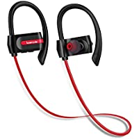 HOMTSSAW In Ear Bluetooth Wireless Waterproof Headphones for Gym Running Workout 8 Hour Battery