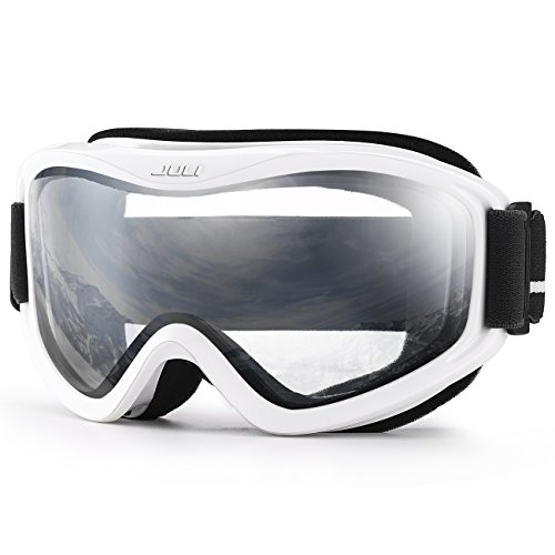 JULI Ski Goggles,Winter Snow Sports Snowboard Over Glasses Goggles with Anti-fog UV Protection Double Lens for Men Women & Youth Snowmobile Skiing ()