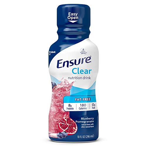 Ensure Clear Blueberry Pomegranate Flavor 10 oz. Bottle Ready to Use, 56500 – Case of 12
