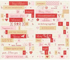 Making Memories Love Notes Stickers - Titles