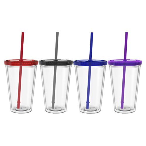 Maars Classic Insulated Tumblers 16 oz. | Double Wall Acrylic | 4 pack