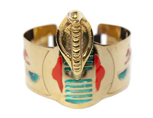 Arsimus Egyptian Cleopatra Cobra Snake Armband Cuff (Gold)