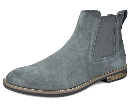Bruno Marc Men's Urban-06 Grey Suede Leather Chukka Ankle Boots – 15 M US