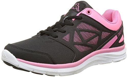 Kappa Fanger Pu, Zapatillas de Deporte Exterior para Niñas Negro - Noir (952 Black/Warm Pink)