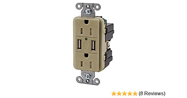 hubbell wiring systems usb15x2i usb receptacle electrical outlets rh amazon com Hubbell Motion Sensor Wiring Diagram Hubbell Automation Wiring Diagrams