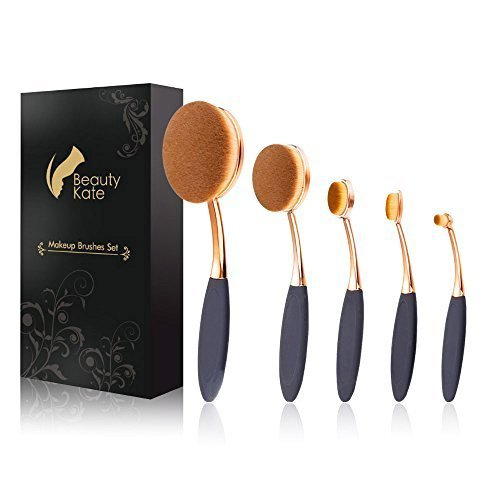 BeautyKate Oval Makeup Brush Set Professional Foundation Con