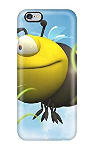 Fashionable Style Case Cover Skin For Iphone 6 Plus- Big Bee Yellow Grass Blue Sky Green Brown Animal Other
