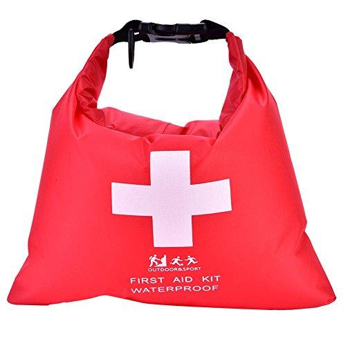 Botiquín de primeros auxilios, 1.2L Bolsillo portátil de poliéster Bolsa impermeable Bolsa de emergencia Kit de...