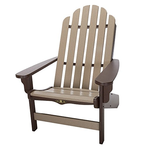 Original Pawleys Island DWAC1CHOWW Durawood Essentials Adirondack Chair, Chocolate/Weatherwood For Sale