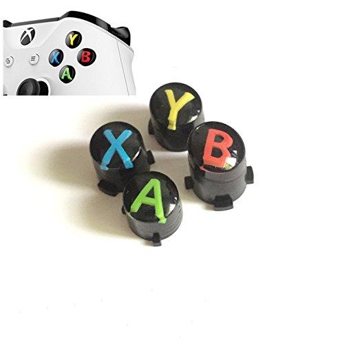 Replacement Bullet Buttons ABXY Mod Kit Levers Joystick For Xbox One S Slim Elite Controller (Multicolour)