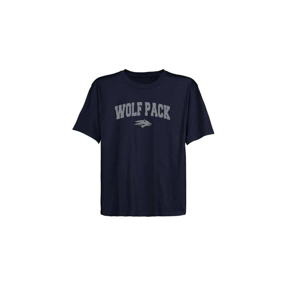 Nevada Wolf Pack Youth Navy Blue Logo Arch T shirt