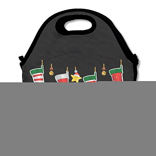 [Merry Christmas Stockings Lunch Bag Travel Zipper Organizer Bag, Waterproof Outdoor Travel Picnic Lunch Box Bag Tote With Zipper And Adjustable Crossbody] (Flamenco Costumes San Francisco)