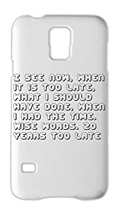 I see now, when it is too late, what i should have done, Samsung Galaxy S5 Plastic Case